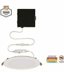 Commercial Electric Ultra Slim 6 in. Color Selectable New Construction LED Kit