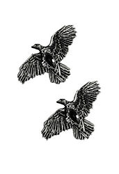 Restyle Gothic Black Diamond Ravens Hairclips Set of 2