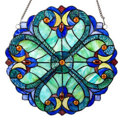 Vintage Style Colorful Stained Glass Window Panel Suncatcher Garden Decors $15.42
