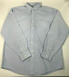 LL Bean Wrinkle Resistant Mens 16 35 Long Sleeve Button Front Shirt Checked $14.88