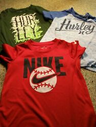 3 Boys Youth Shirts Size 5 6 Years Nike And Hurley All are In Great Condition