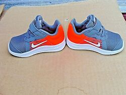 NIKE ORANGE GRAY DOWNSHIFTER 8 SHOES 922856 083 INFANT BABY SIZE 5