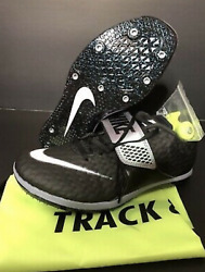 $125 Nike Zoom High Jump Elite Track Spikes Black Size 4.5 Black White 806562002