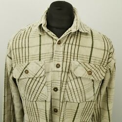 RETRO Vintage Cord Shirt Funky Hippy 1980s 1990s THICK HEAVY LARGE RELAXED GBP 25.00