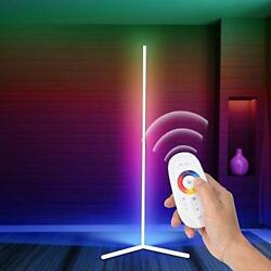 RGB Corner Floor Lamp Room Lamp LED Dimmable Remote Control Colour White $139.53