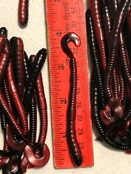 75 count 4quot; FISHING WORMS rust and black $6.99