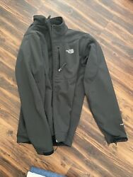 The North Face Men#x27;s TNF Apex Soft Shell Jacket Black Lined Coat Size XL $39.00