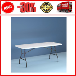 Cosco 8 Foot Centerfold Folding Table White $56.25