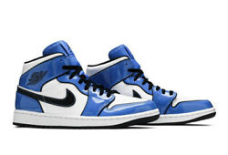 Air Jordan 1 Mid SE Signal Blue DD6834 402 US Men's Size 10 Brand New $167.50