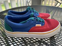 VANS #x27;Off the Wall#x27; Kids Size 1 Multi Color Low Top Lace Up Youth Canvas Shoes $22.00