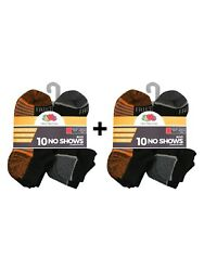 Fruit of the Loom Boys Socks 20 Pack No Show Cushioned Size: Lg Shoe Size: 3 9 $18.69