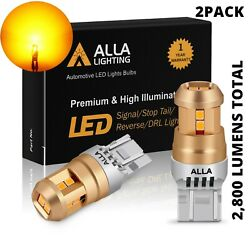 LED Yellow 7443 Front Turn Signal Bulbs for ToyotaHeavy Duty Aluminum Heat Sink $19.98