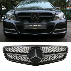 AMG Style Black Grille Grill w Star For Mercedes Benz W204 C250 C300 C350 08 13 $88.99