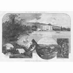 CURRAGHMORE HOUSE Seat of the Marquis of Waterford Antique Print 1895 GBP 16.95