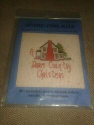 Spare Time Kits quot;Warm Country Christmasquot; Mini Beginner Counted Cross Stitch Kit $6.99