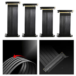 90 Degree Full Speed 3.0 PCIE X16 Riser Cable PCIE Extender w Antijam $17.05
