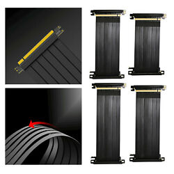 90 Degree Full Speed 3.0 PCIE X16 Riser Cable PCIE Extender for GPU Vertical $17.05