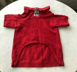 Burberry Dog Red Shirt size M $225.00
