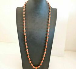 Necklace Antique With Coral Natural Gold Solid 18K Traditional Italian $2868.99