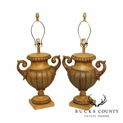 Fine Art Lamps Pair Two Handled Urn Form Table Lamps $895.00