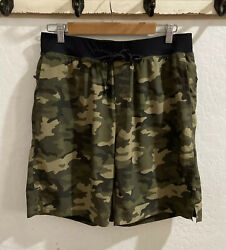 """Fabletics Mens Like The Franchise Shorts Camo 9"""" Lined Activewear Pockets S M ? $45.00"""