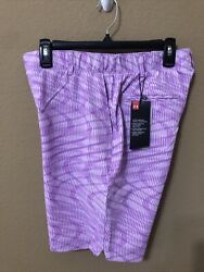 Under Armour UA Womens Links Printed Golf Shorts 9quot; Size 10 1355499 568 $45.00