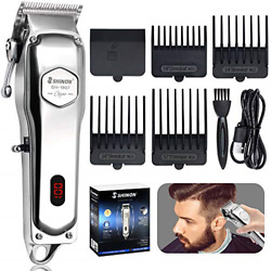 HINZER Powerful Hair Clippers for Men Hair Cutting Kit Professional Cordless Set $24.56