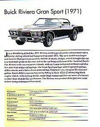 1971 Buick Riviera Gran Sport Article Must See $13.50