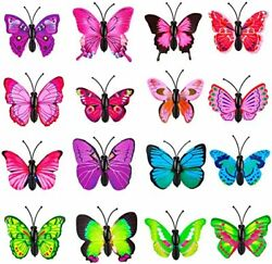 Decorative 12 Pcs Colorful Cute Push Pins for Feature WallPhoto Wall Butterfly $13.99