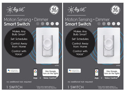 GE C by GE Smart Wall On Off Motion Sensing Dimmer Switch 2 PACK $97.99