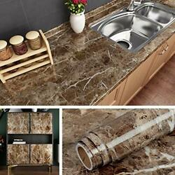 Self Adhesive Marble Wall Paper Roll Kitchen Countertop Peel amp; Stick Cover New $14.26