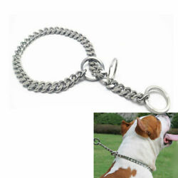 Pet Large Dog Chain Collar Adjustable Punk Silver Steel Safety Durable Collar $18.98