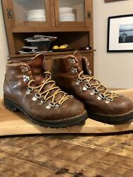 Vintage Danner Mountain Light Cascade Hiking Boots 48290 size 9.5 N Brown USA $79.00
