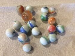 18 Old Glass Marbles GBP 8.00