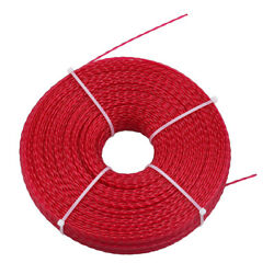 Hipa 1lb .080 Round Red Commercial String Trimmer Line Twist 472ft weed trimming