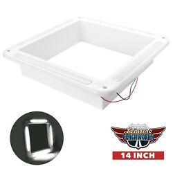 White RV Vent Garnish Common Replacement 14quot; X 14quot; With LED Light and Switch $44.99