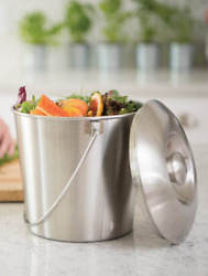 Brushed Stainless Steel Compost Pail $29.00