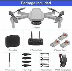 FPV WiFi Dual 4K Camera Live Video 4CH 6 Axis Gyro Foldable RC Drone for Adults $45.99