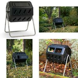 Fcmp Outdoor Im4000 37 Gal. Dual Chamber Tumbling Composter Black $126.99