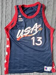 NBA Vintage Shaquille O'Neal Team USA Olympics Jersey Champion Size: XL $40.00