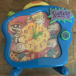 Nickelodeon Rugrats Talking Alarm Clock 1998 RARE Works Tommy Angelica VTG 90's $39.99
