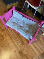 small dog bed pink $45.00