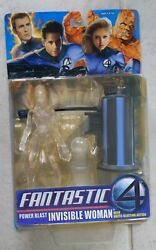 NEW MARVEL FANTASTIC FOUR MOVIE POWER POWER BLAST INVISIBLE WOMAN FIGURE S27 $14.99