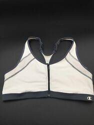 Champion Size XL White Full Figure Unlined Front Close Racerback No Wire Sports $9.00
