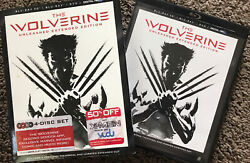 THE WOLVERINE 3D 2013 Blu ray DVD 4 Disc Set Unleashed Extended Edition FS $23.00