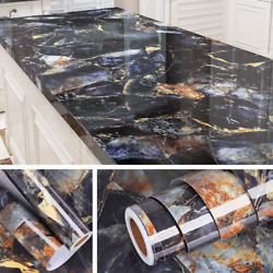 Livelynine 197 X 36 Inch Wide Contact Paper Blue Marble Countertop Adhesive Wall $76.24