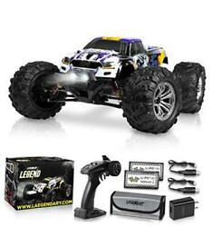 1:10 Scale Large RC Cars 48 kmh Speed Boys Remote Control Purple Yellow $246.41
