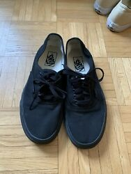 vans authentic sneakers size 7 in mens and 8.5 in womens black $10.00