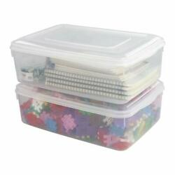 Clear Plastic Bin with Lid 11 Quart Container Bins 2 Packs $35.99