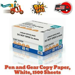 Pen and Gear Copy Paper White 1500 Sheets Office Supplies Multipurpose Paper $14.95